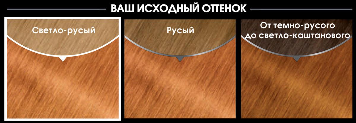Garnier Стойкая крем-краска для волос Olia без аммиака, оттенок 8.43, Медный блонд, 160 мл
