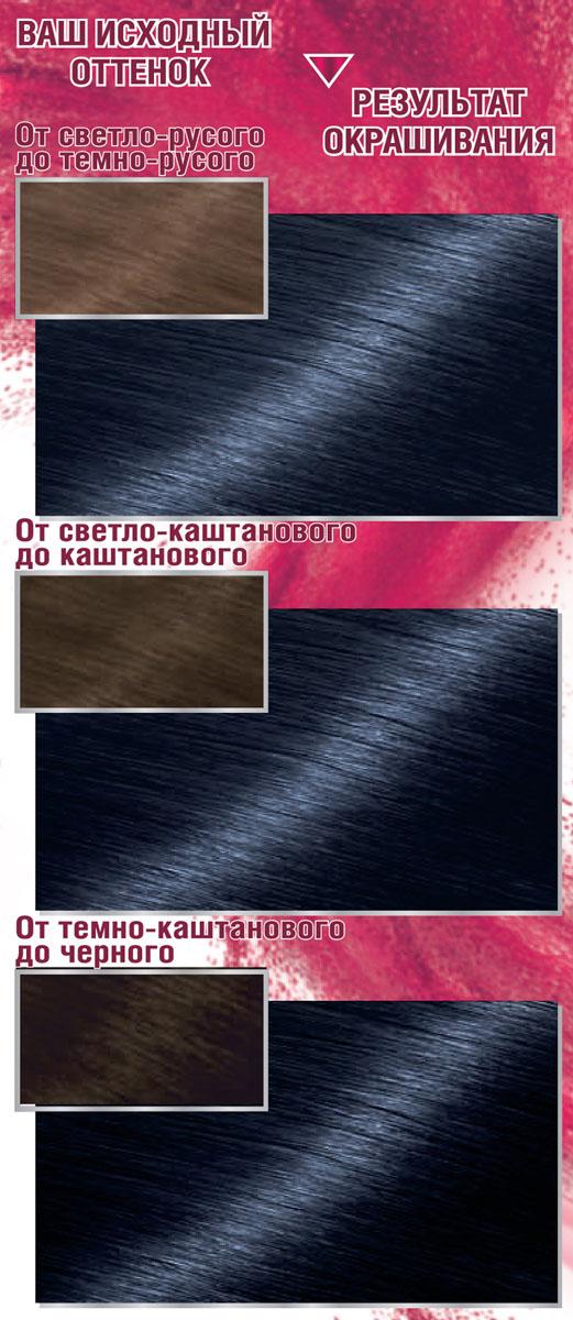 Garnier Стойкая крем-краска для волос Color Sensation, Роскошь цвета, оттенок 4.10, Ночной Сапфир, 110 мл
