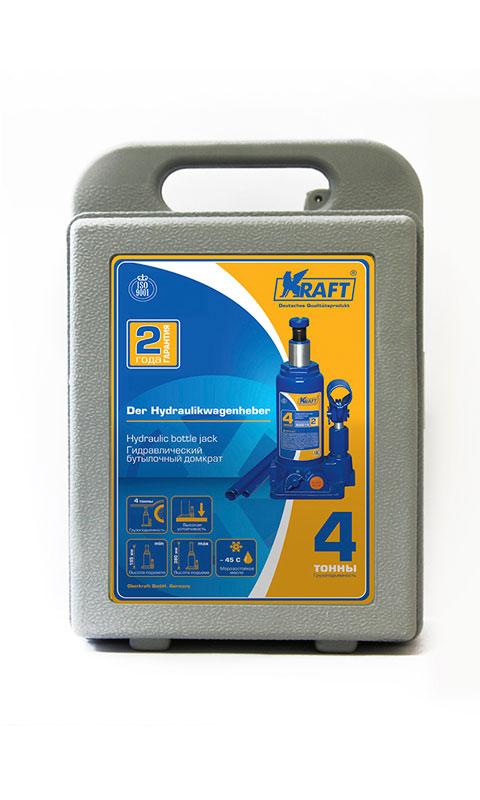 Домкрат бутылочный Kraft КТ 800014, 4 т