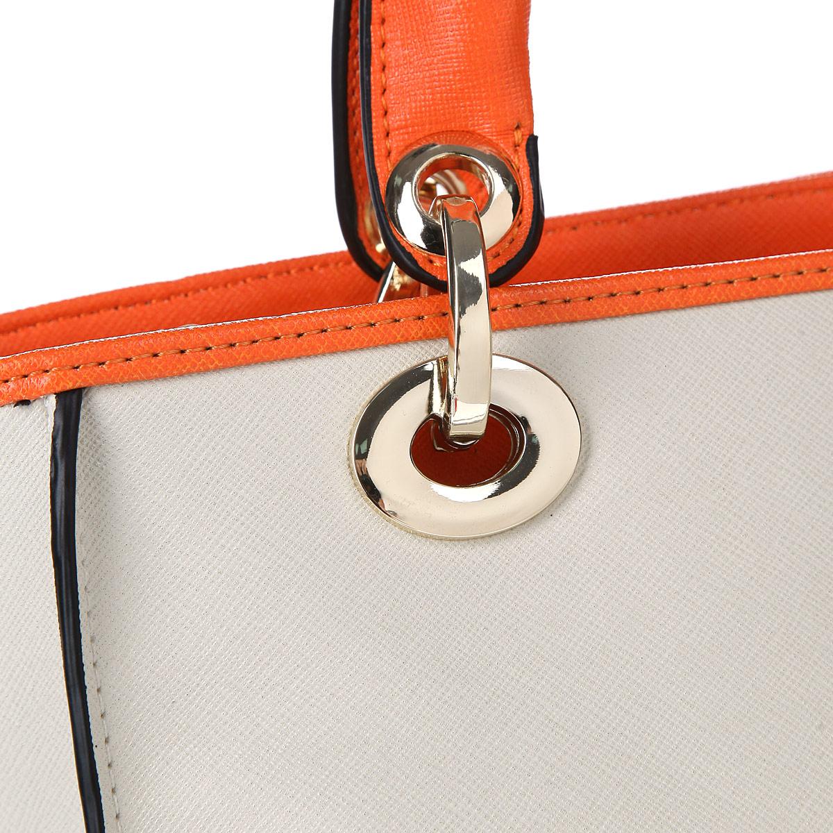 Сумка женская Leighton, цвет: молочный, оранжевый. 510254-3769 ( 510254-3769/23/3769/18 бе )
