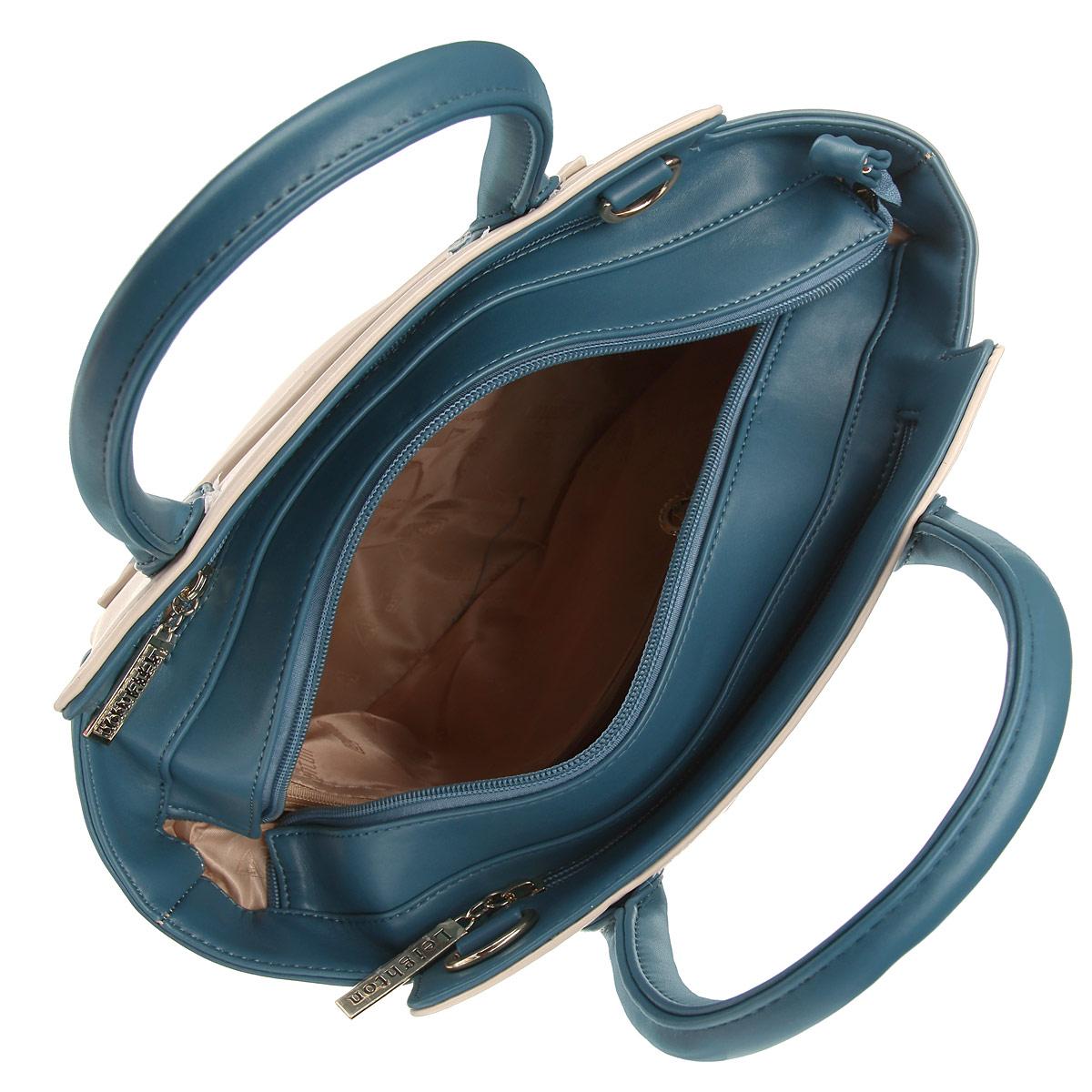 Сумка женская Leighton, цвет: бежевый, синий. 570270-082/11/082/670 беж ( 570270-082/11/082/670 беж )