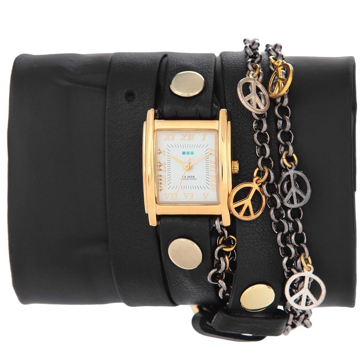 """Часы наручные женские La Mer Collections """"Charm MultiPeace Black"""". LMCW1020x ( LMCW1020x )"""