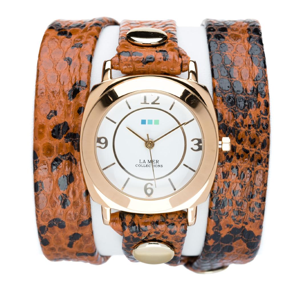 """Часы наручные женские La Mer Collections """"Odyssey Toffee snake"""". LMODY2002x ( LMODY2002x )"""
