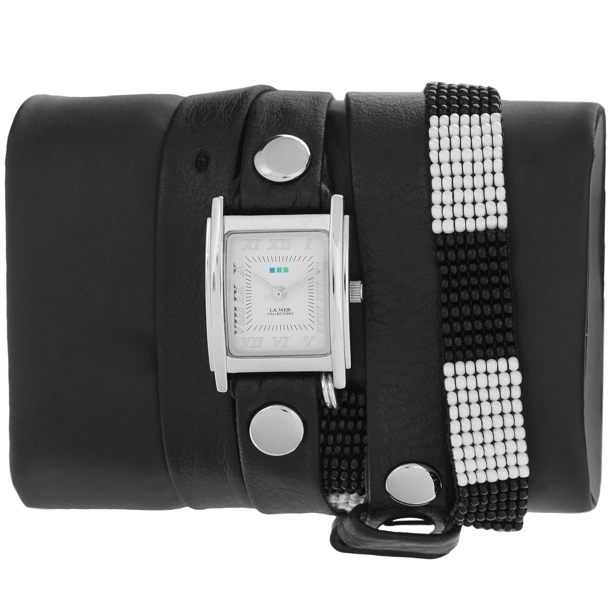"Часы наручные женские La Mer Collections ""Guatemala Beaded Black/White"". LMGUAT003 ( LMGUAT003 )"