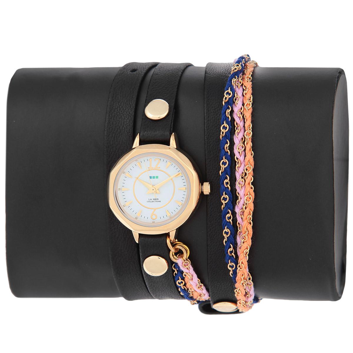 "Часы наручные женские La Mer Collections ""Sydney Friendship Bracelet Gold"". LMDEL1004 ( LMDEL1004 )"