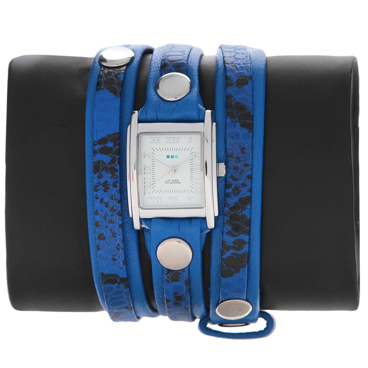 "Часы наручные женские La Mer Collections ""Layer Electric Blue Snake"". LMLW6001x ( LMLW6001x )"