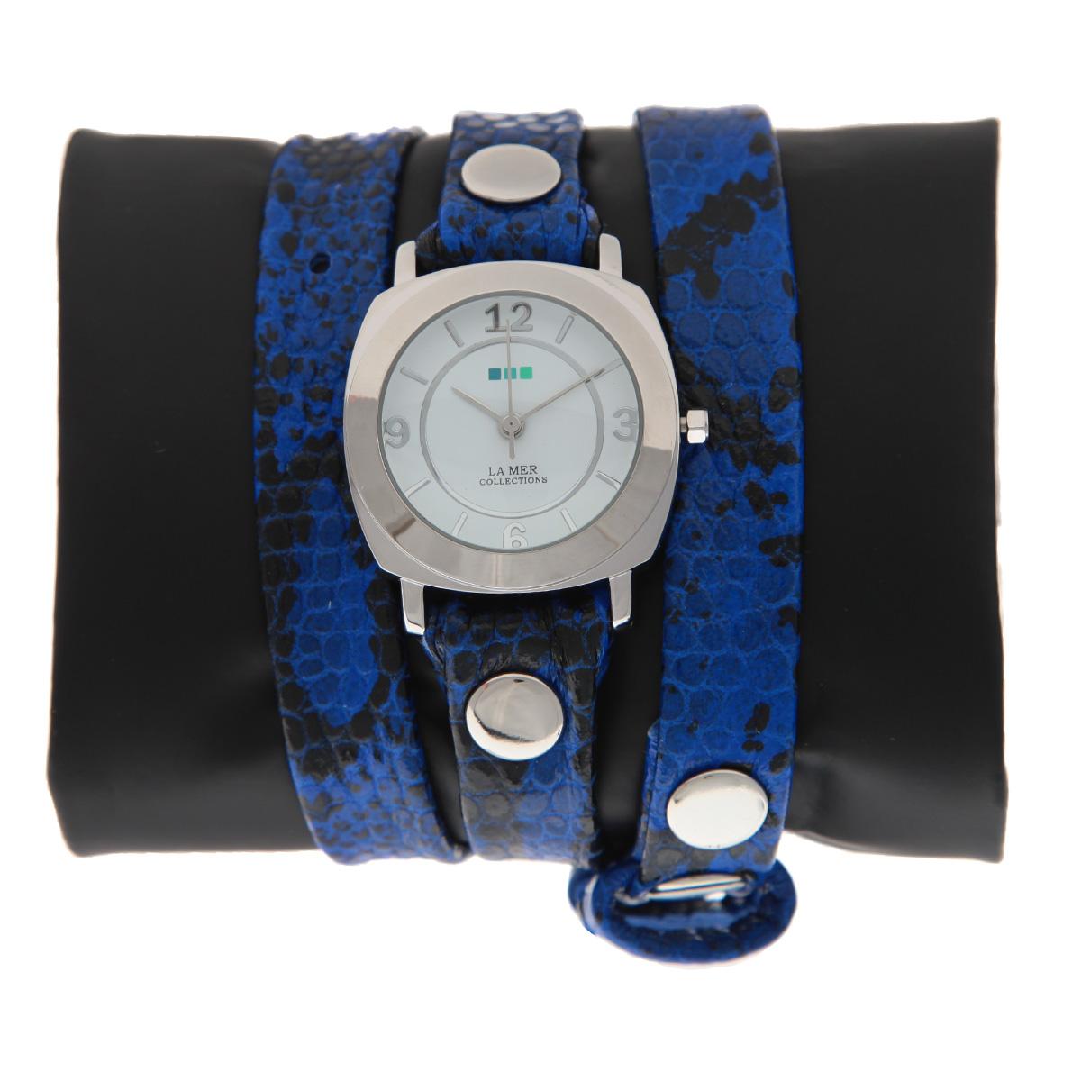 """Часы наручные женские La Mer Collections """"Odyssey Electric Blue Snake"""". LMODY2001x ( LMODY2001x )"""
