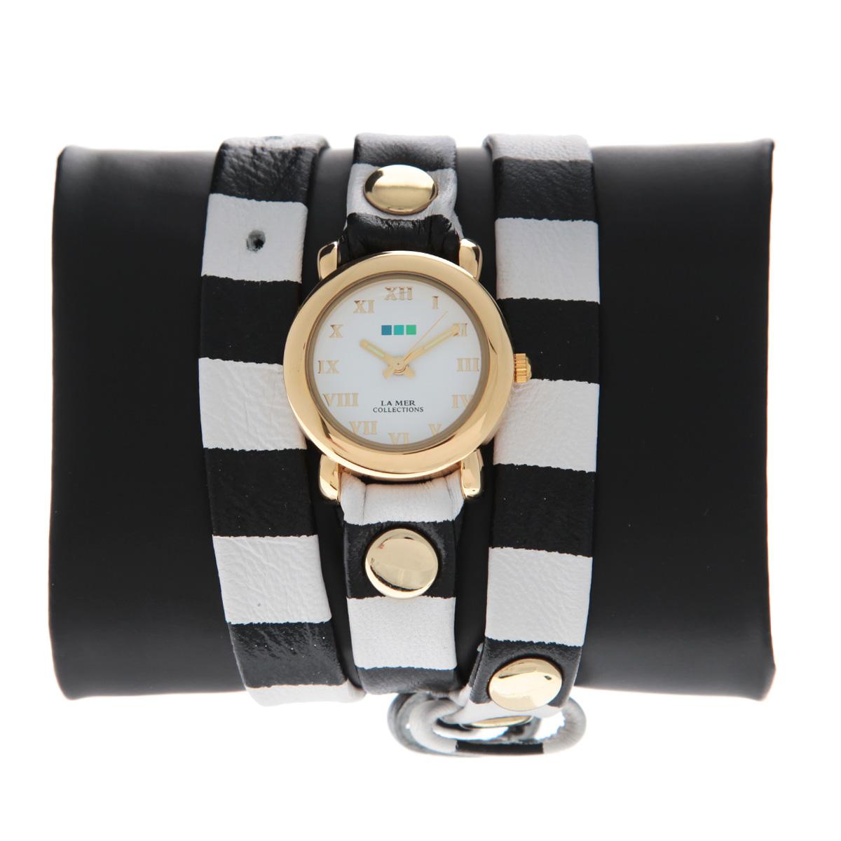 """Часы наручные женские La Mer Collections """"Simple Black-White Stripe"""". LMSTW4002 ( LMSTW4002 )"""