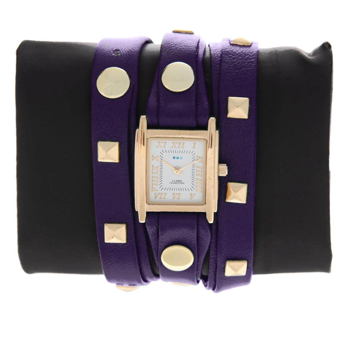 "Часы наручные женские La Mer Collections ""Pyramid Stud Purple"". LMLW1010Hx ( LMLW1010Hx )"