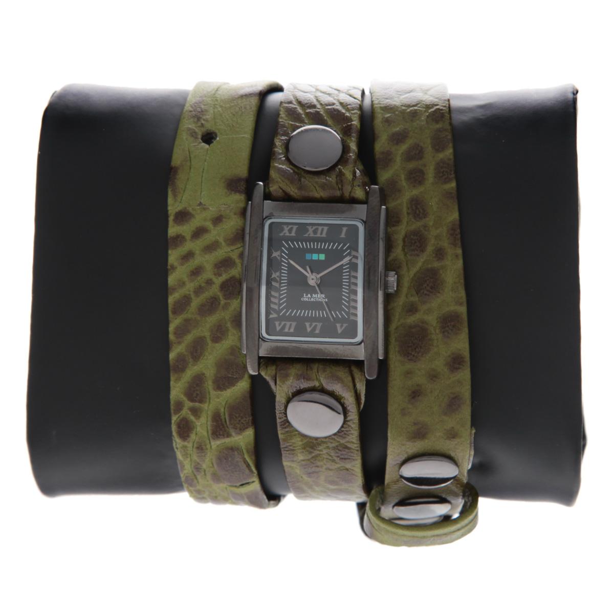 "Часы наручные женские La Mer Collections ""Simple Olive Croco-Gun"". LMSTW9001x ( LMSTW9001x )"