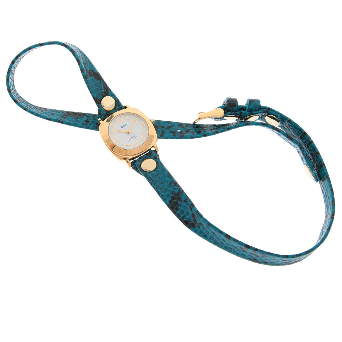 """Часы наручные женские La Mer Collections """"Odyssey Aqua Blue Snake"""". LMODY4002x ( LMODY4002x )"""