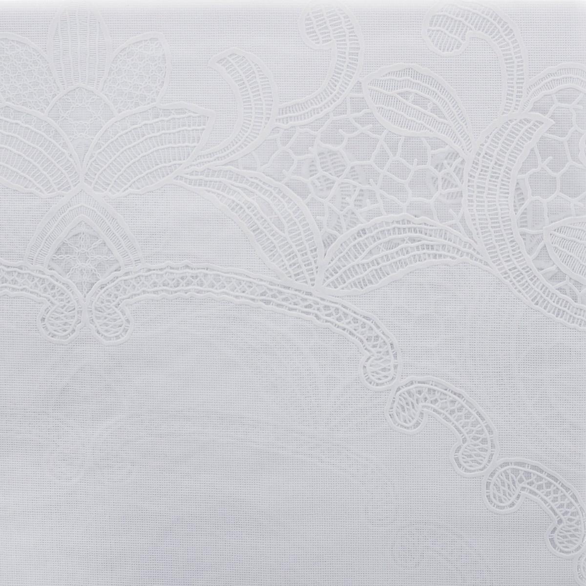 """Скатерть """"Ажурная"""", цвет: белый, 135 x 180 см. 811-008"""