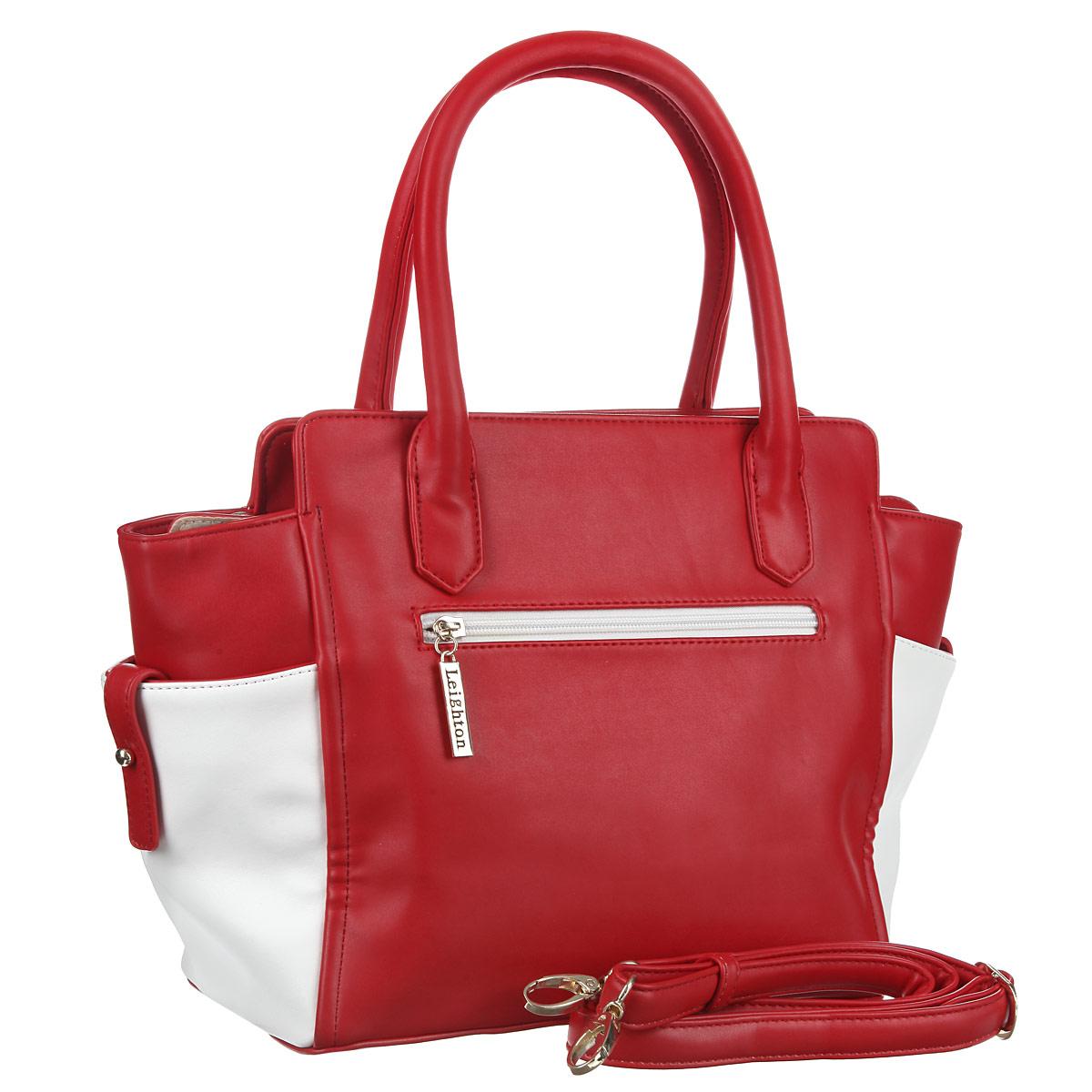 Сумка женская Leighton, цвет: белый, красный. 570164-082/101/082/22 бел ( 570164-082/101/082/22 бел )