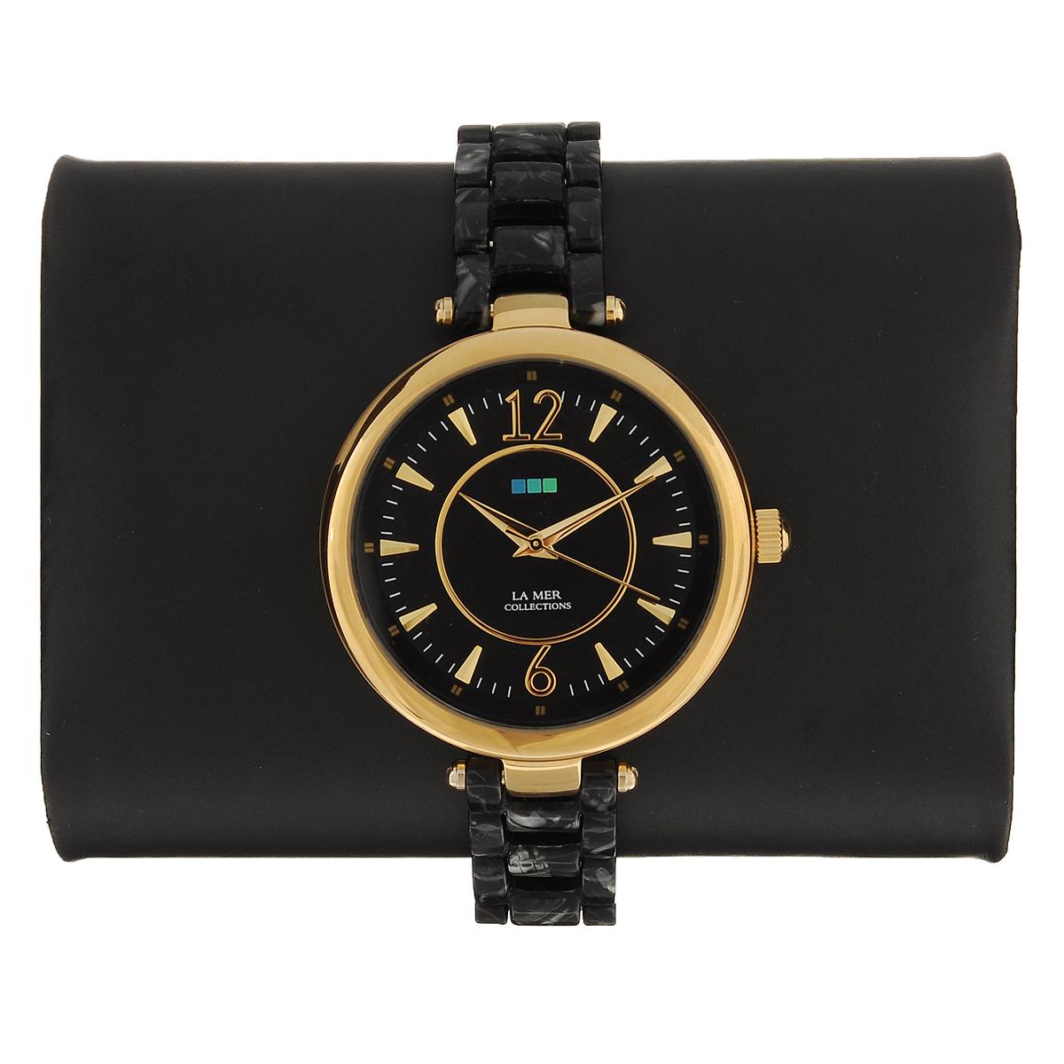 "Часы наручные женские La Mer Collections ""Gold Black/Silver Black Dial"". LMSICILY005 ( LMSICILY005 )"