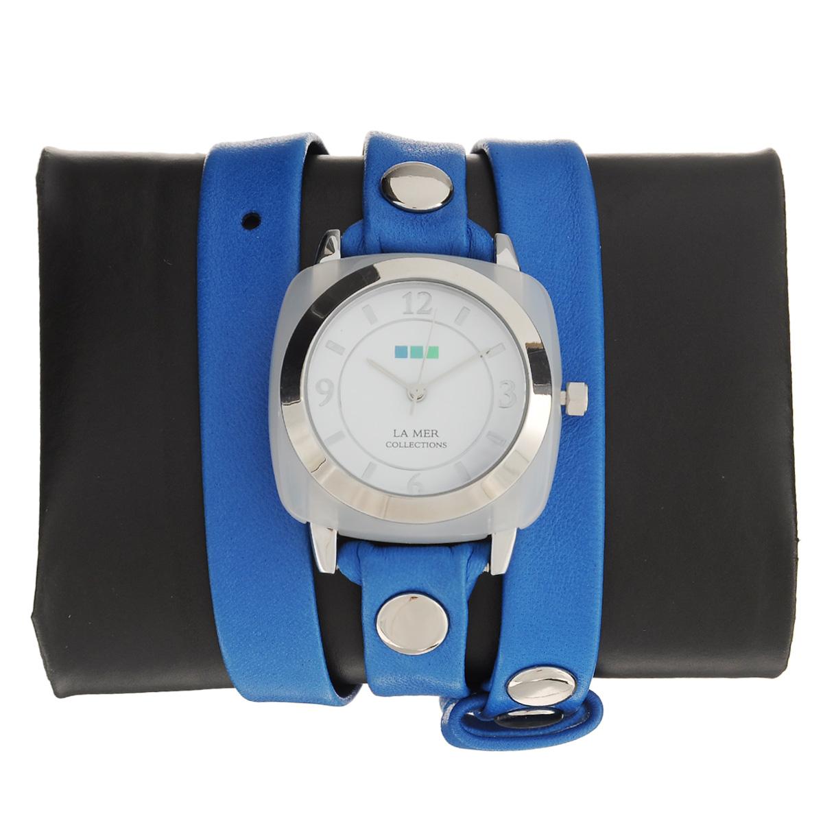 "Часы наручные женские La Mer Collections ""Stone Acetate Moonstone Blue Silver"". LMACETATE008 ( LMACETATE008 )"