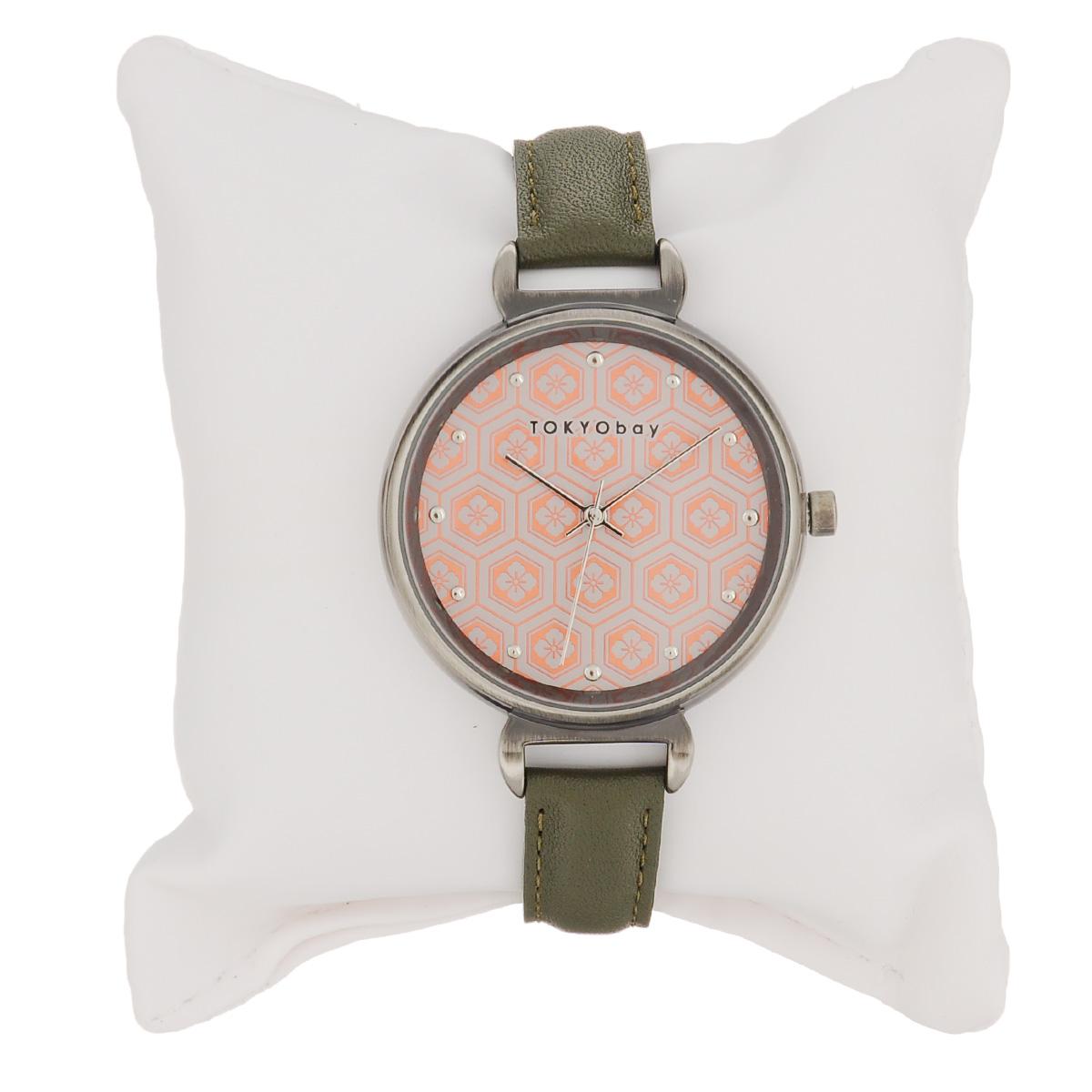 """Часы женские наручные Tokyobay """"Mitsu"""", цвет: зеленый, оранжевый. T399-CO ( T399-CO )"""