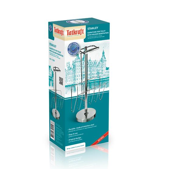 """Гарнитур для туалета Tatkraft """"Stanley"""", напольный, 27 см х 20 см х 58 см"""