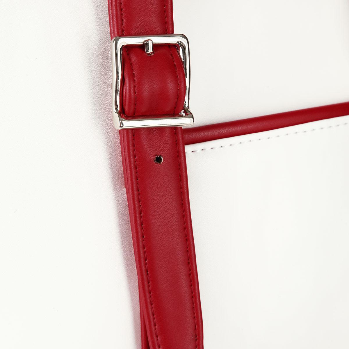 Сумка женская Leighton, цвет: белый, красный. 550265-082 ( 550265-082/101/082/22 бел )