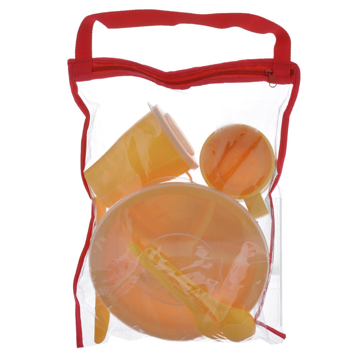 """Набор посуды Solaris """"Вахтовый метод"""", цвет: желтый, на 1 персону"""