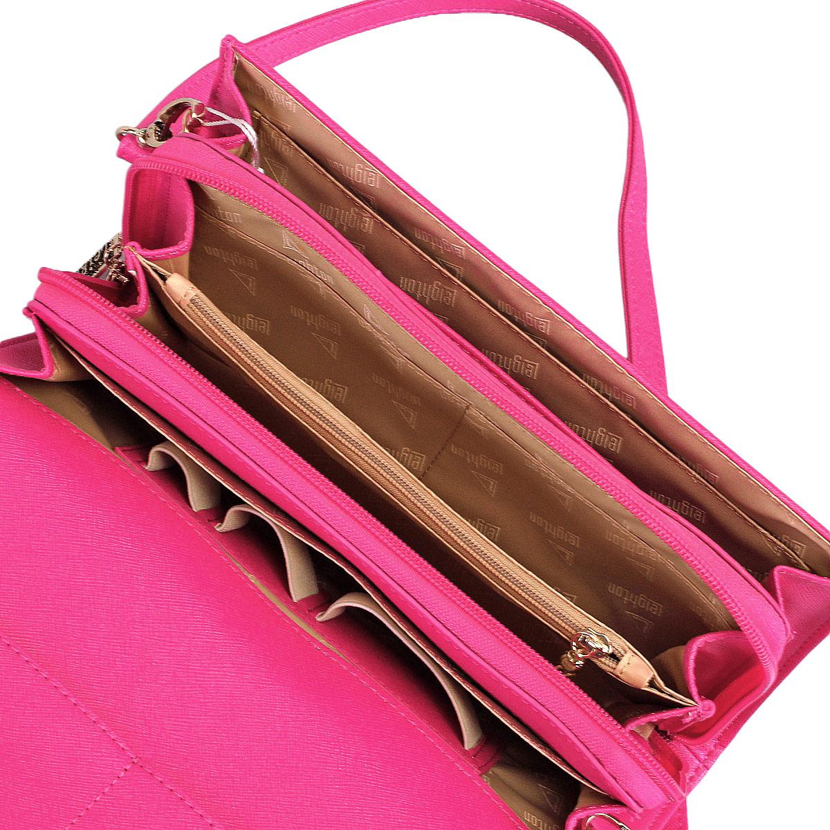 Сумка-клатч женская Leighton, цвет: молочный, розовый. 10656-3769 ( 10656-3769/23/3769/20 беж )