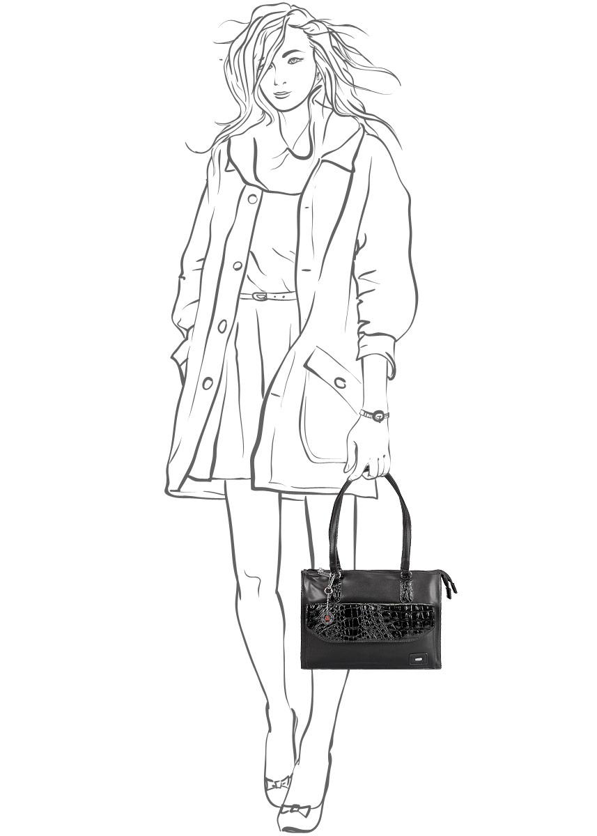 Сумка женская Leighton, цвет: черный. 560473-1092 ( 560473-1092/101/3832/1 че )