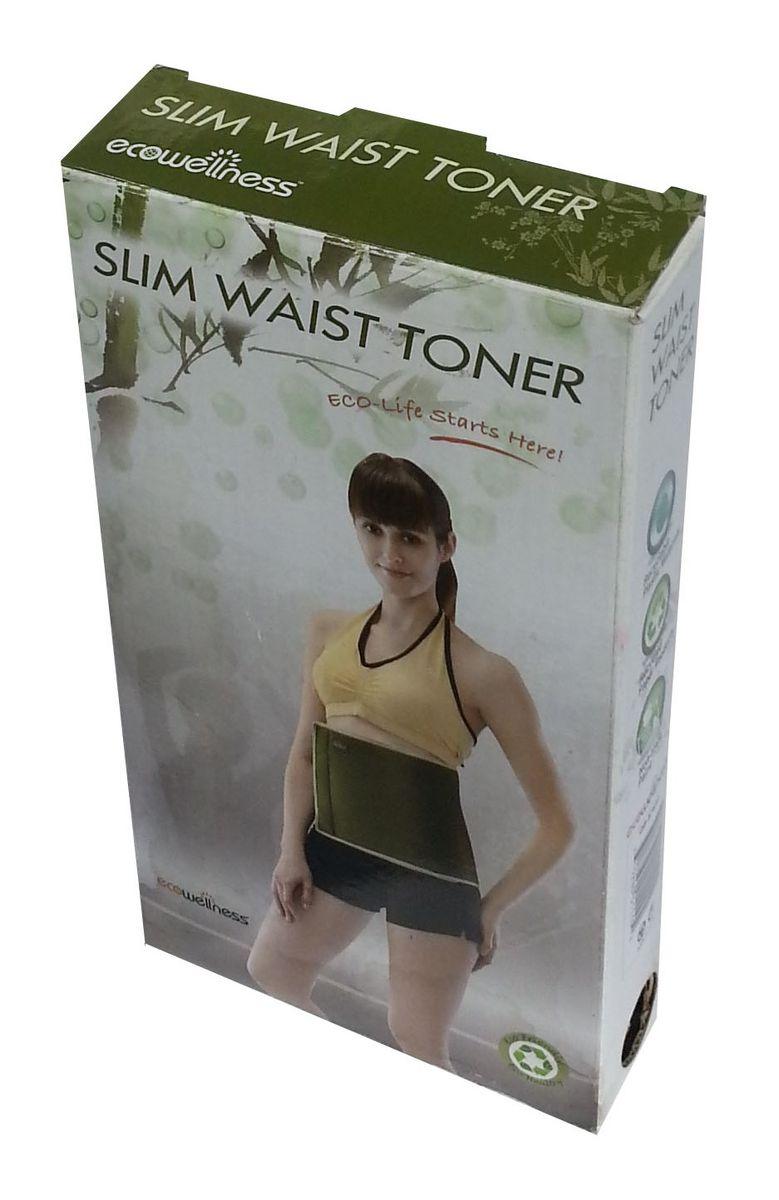 """Пояс для похудения """"Ecowellness"""", неопреновый, цвет: зеленый, 101 см х 25 см. QB-876AEN-B"""