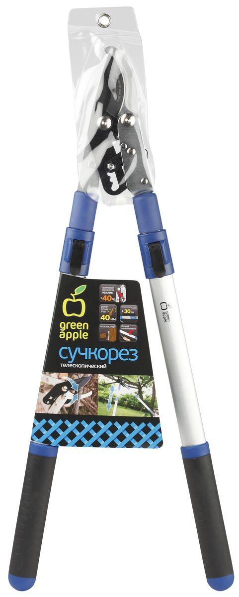 """Сучкорез телескопический """"Green Apple"""", с храповым механизмом, плоскостной"""