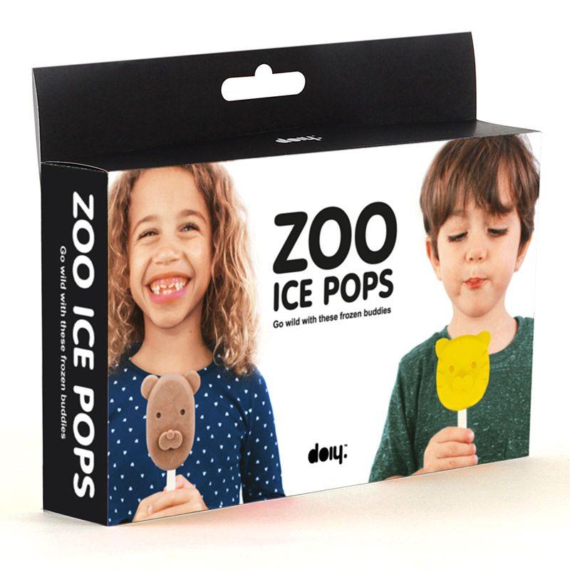 """Форма для мороженого Doiy """"ZooWild"""", 3 предмета"""