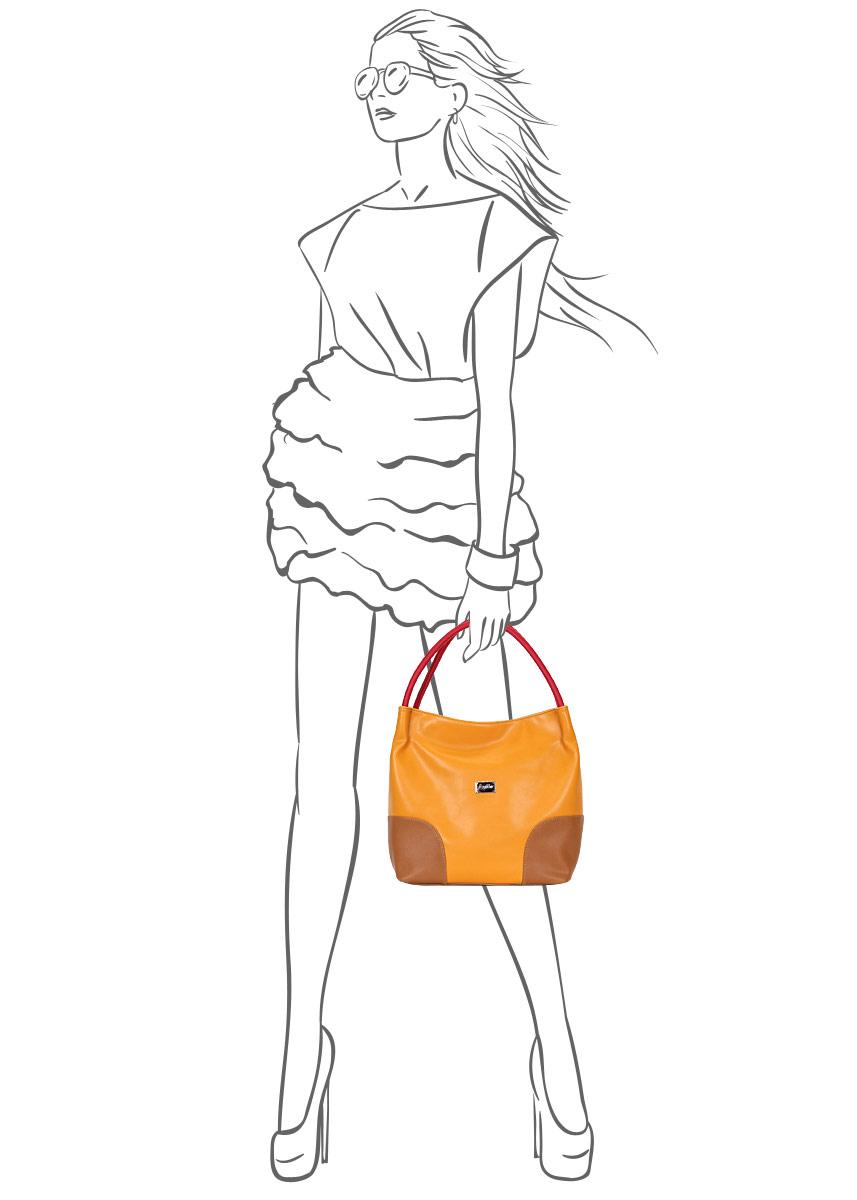 Сумка женская Leighton, цвет: желтый, бежевый. 350204-1092/826/1092/806/ ( 350204-1092/826/1092/806/ )