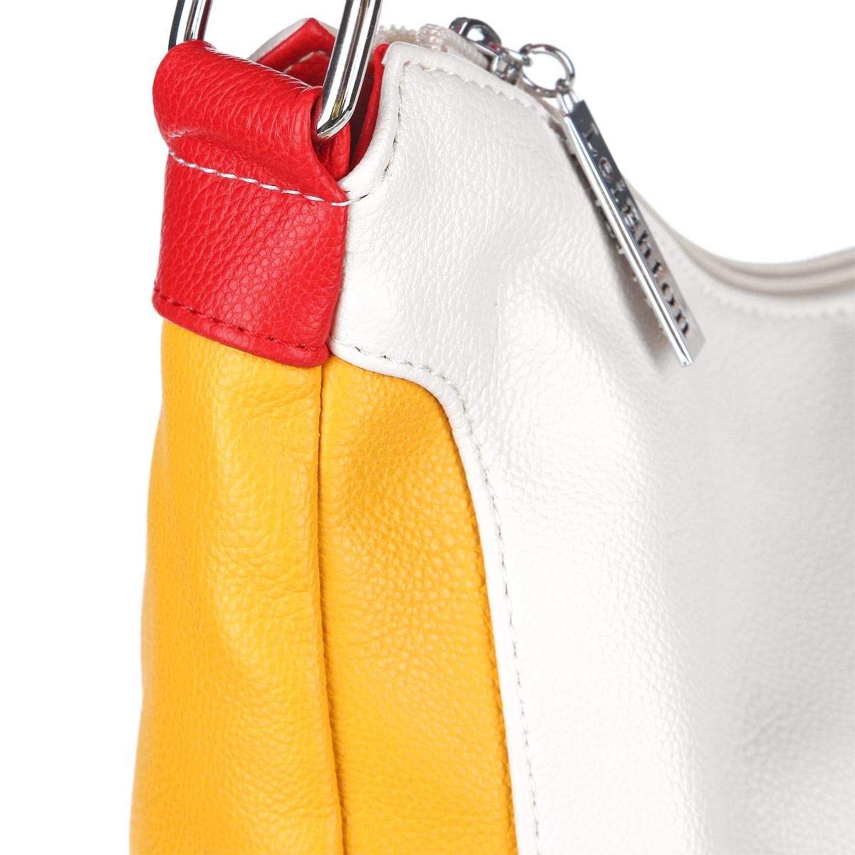 Сумка женская Leighton, цвет: белый, желтый. 10421-1070/922/1070/808/1 ( 10421-1070/922/1070/808/1 )