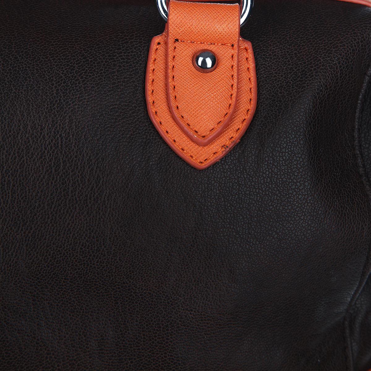 Сумка женская Leighton, цвет: темно-коричневый, рыжий. 61044-339/66/3769/17 ( 61044-339/66/3769/17 )