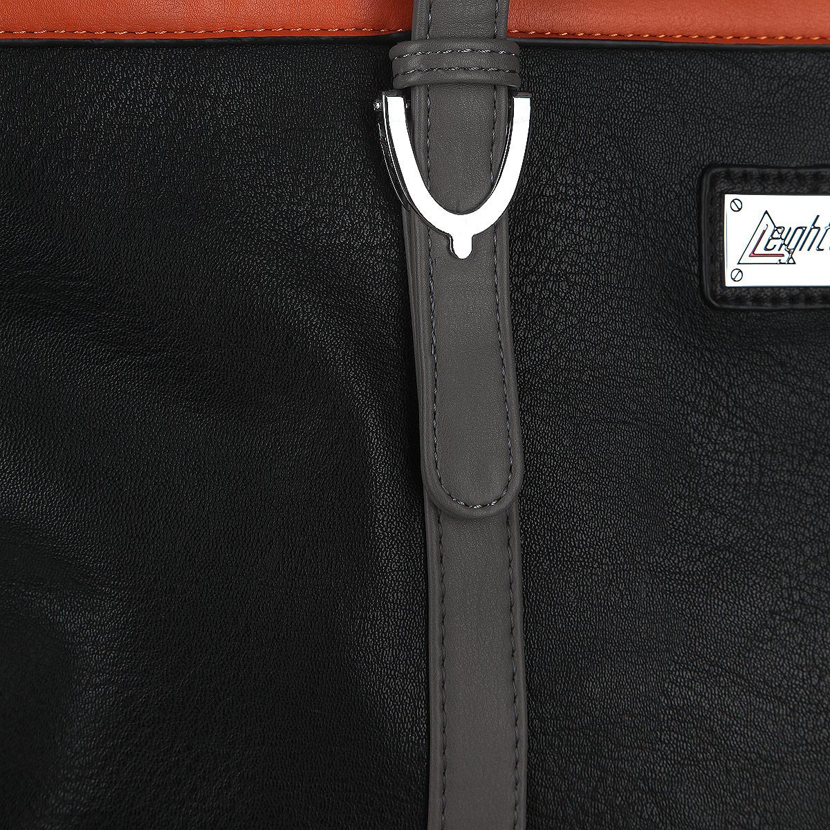 Сумка женская Leighton, цвет: черный, серый, оранжевый. 570493-3822/1/1166/931/11 ( 570493-3822/1/1166/931/11 )