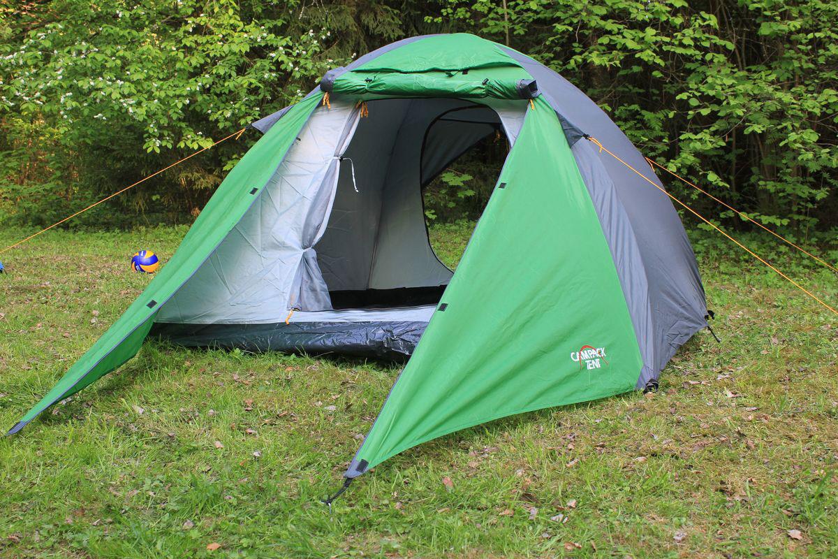"""Палатка Campack Tent """"Forest Explorer 3"""", цвет: зеленый, серый"""