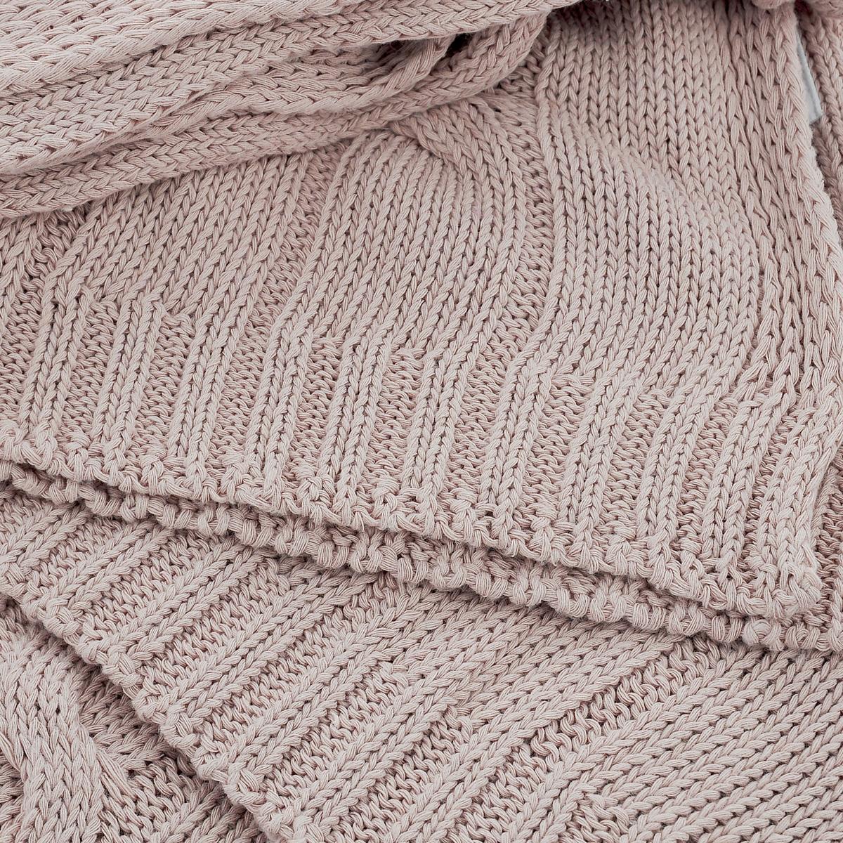 """Покрывало вязанное Леди прима """"Париж"""", цвет: розовый, 180 х 200 см"""