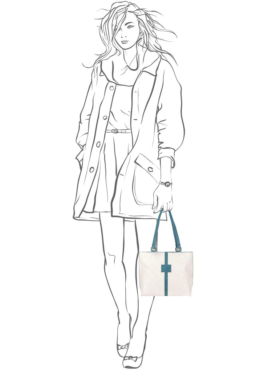 Сумка женская Leighton, цвет: бежевый, бирюзовый. 31389-1112/901/1112/707 б ( 31389-1112/901/1112/707 б )