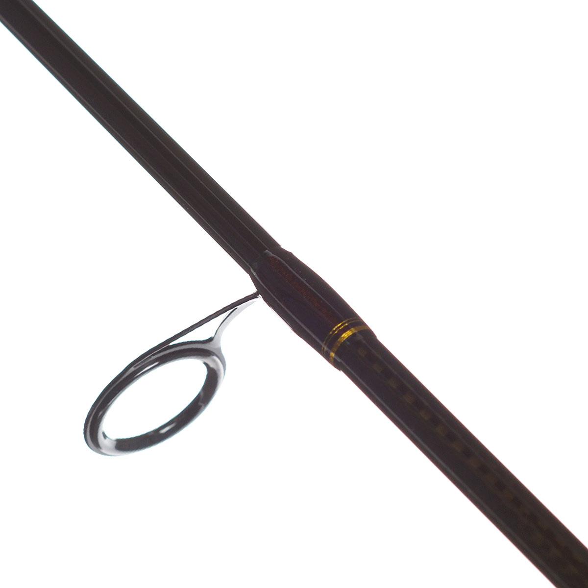 """Удилище спиннинговое Daiwa """"New Exceler"""", штекерное, цвет: темно-коричневый, 2,4 м, 2-10 г"""