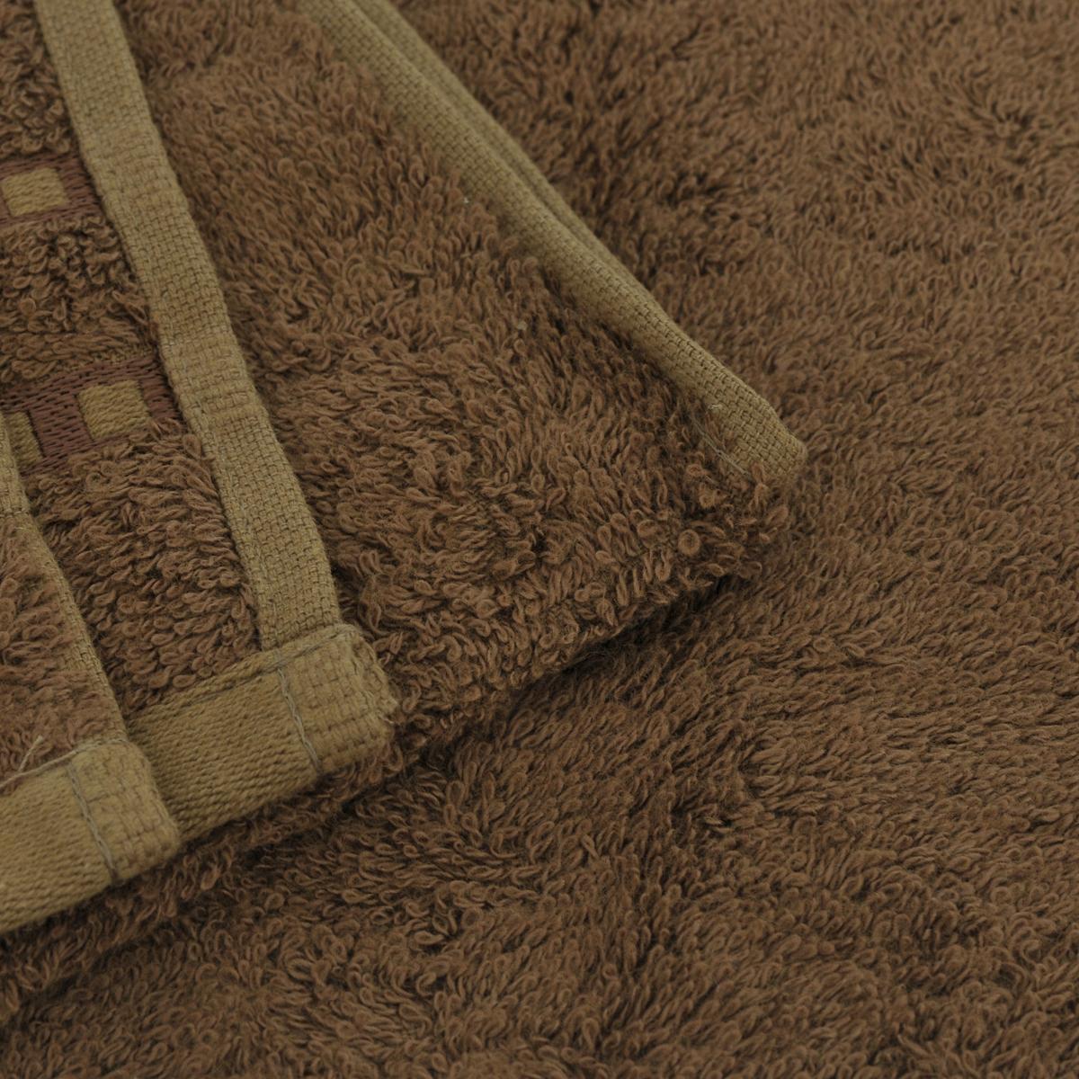 "Полотенце Mariposa ""Panda"", цвет: коричневый, 70 х 140 см"