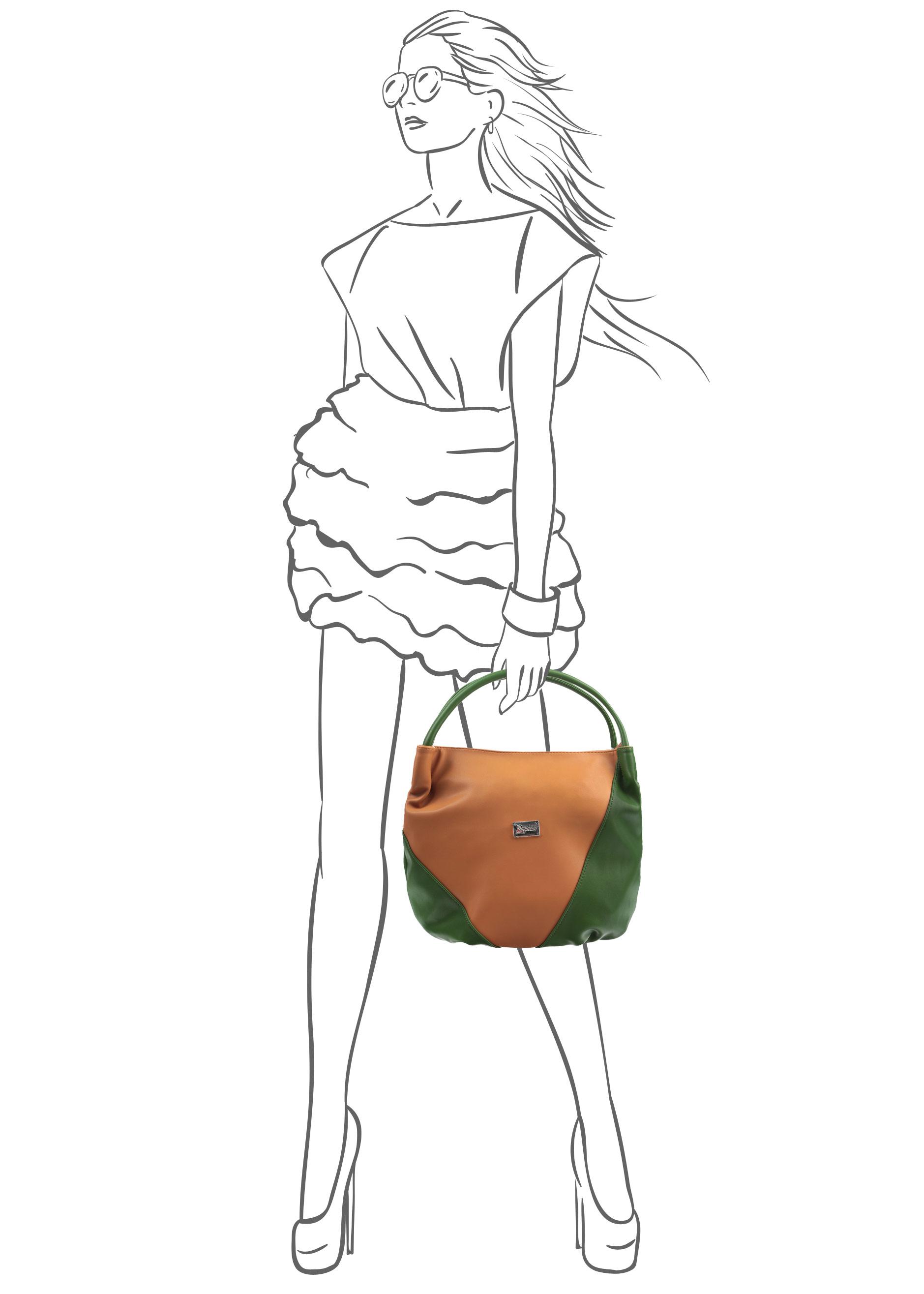 Сумка женская Leighton, цвет: темно-бежевый, зеленый. 350192-1092/805/1092/510 ( 350192-1092/805/1092/510 )