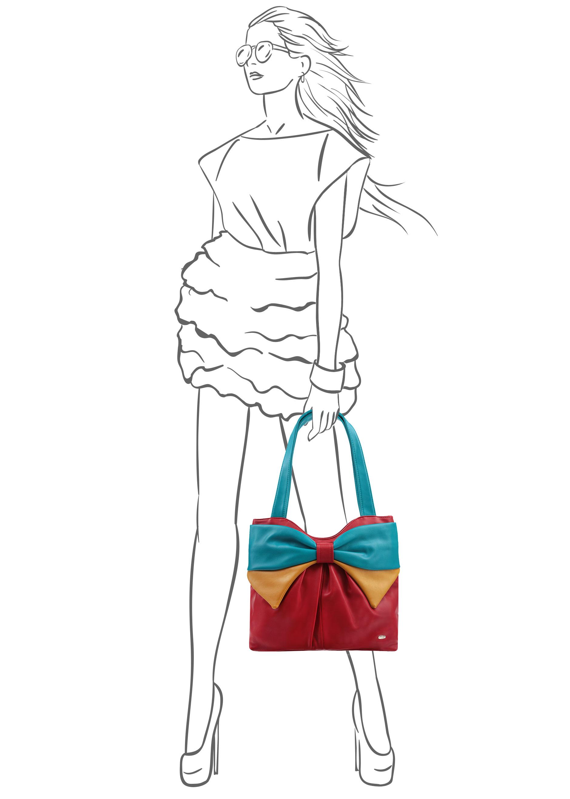 Сумка женская Leighton, цвет: красный, желтый, голубой. 86307-1589/17/1589/20/1589/22 ( 86307-1589/17/1589/20/1589/22 )