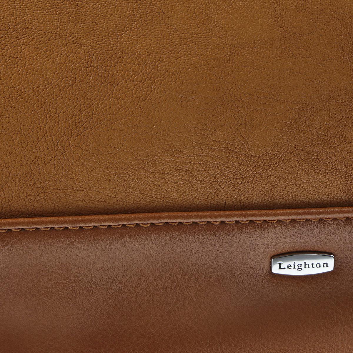 Сумка женская Leighton, цвет: темно-коричневый, светло-коричневый, черный. 580189-3799/2/1166/201/11 ( 580189-3799/2/1166/201/11 )