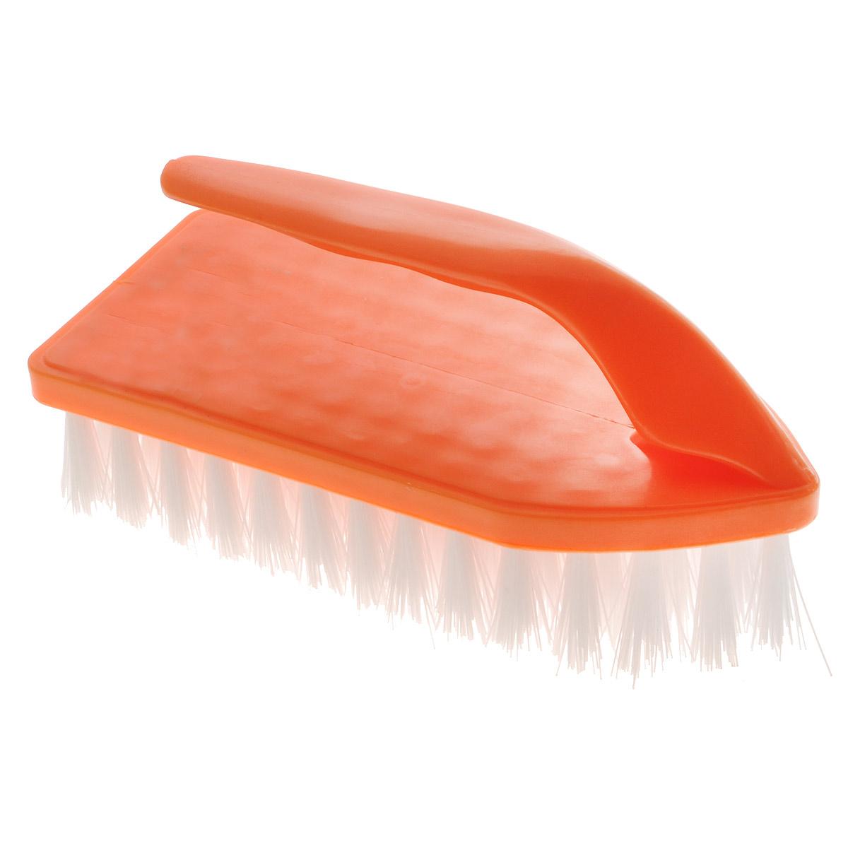 """Щетка Home Queen """"Утюг"""", универсальная, цвет: оранжевый. 56583"""