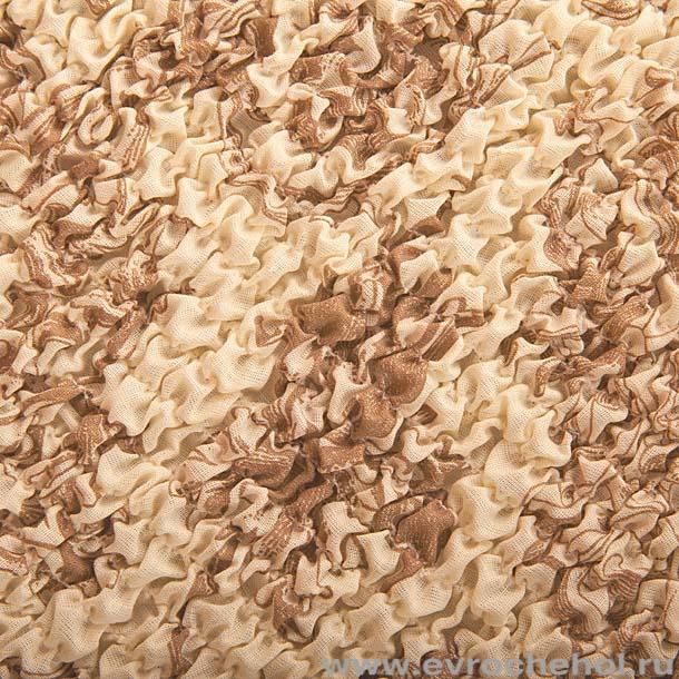 """Чехол на стул Еврочехол """"Виста"""", цвет: песочный, 40-60 см"""