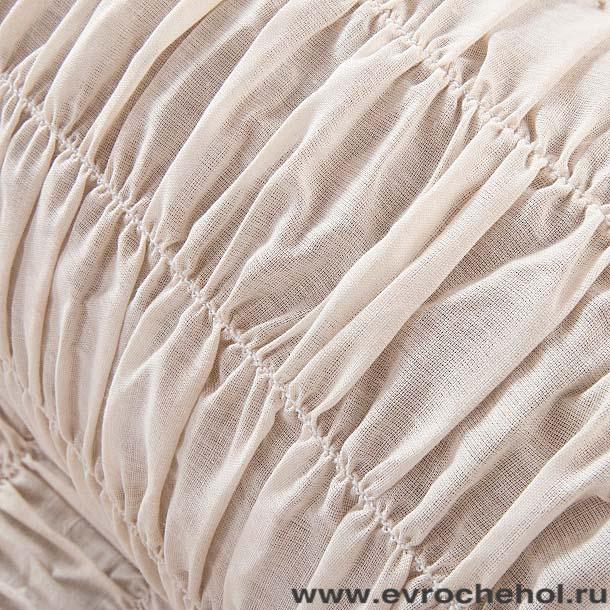 """Чехол на угловой диван Еврочехол """"Фантазия"""", цвет: молочный, 380-530 см"""