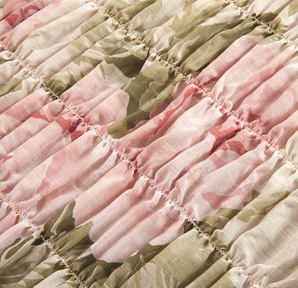 """Чехол на 3-х местный диван Еврочехол """"Фантазия"""", цвет: светло-зеленый, розовый, белый, 160-220 см"""
