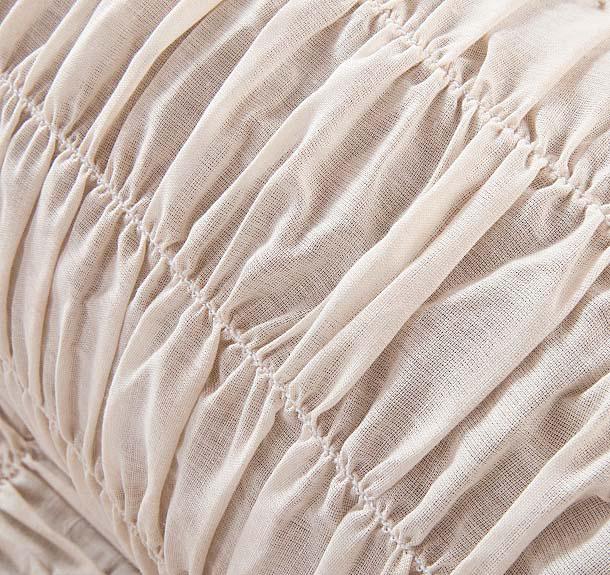 "Чехол на 2-х местный диван Еврочехол ""Фантазия"", цвет: молочный, 100-160 см"
