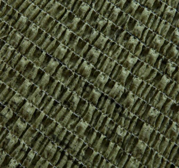 """Чехол на 2-х местный диван Еврочехол """"Плиссе"""", цвет: фисташковый, 100-150 см"""