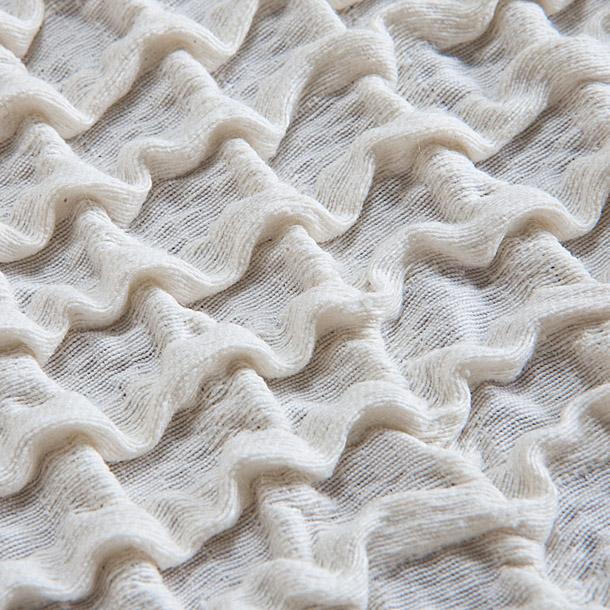 """Чехол на 2-х местный диван Еврочехол """"Олимпия"""", цвет: молочный, 100-150 см"""