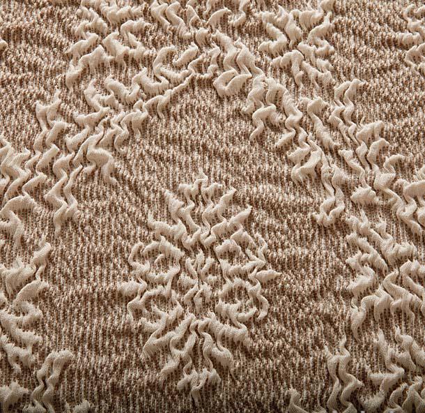 "Чехол на 2-х местный диван Еврочехол ""Жаккард"", цвет: молочный, бежевый, 120-160 см"