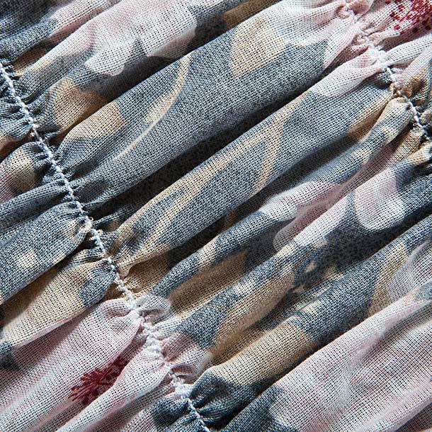 """Чехол на кресло Еврочехол """"Фантазия"""", цвет: светло-серый, розовый, 60-100 см"""