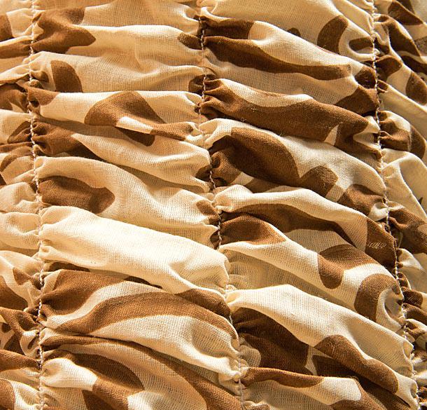 """Чехол на кресло Еврочехол """"Фантазия"""", цвет: бежевый, темно-коричневый, 60-100 см"""